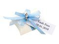 10x Gastgeschenk Fisch mit Namen Bedruckt Hellblau Personalisiert Taufe Kommunion Konfirmation 10