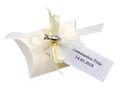10x Gastgeschenk Fisch mit Namen Bedruckt Creme Personalisiert Taufe Kommunion Konfirmation 10