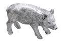 Dekofigur Wildschwein Stehend Silber Jäger Deko Tischdeko Silvester Herbst Weihnachten 1
