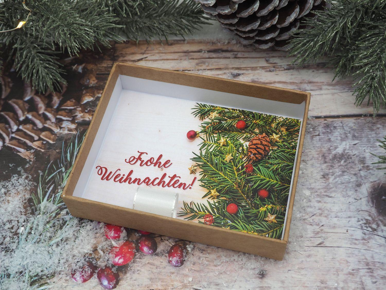 Geldgeschenk Verpackung Weihnachten Gold Rot Natur Geschenk Gutschein