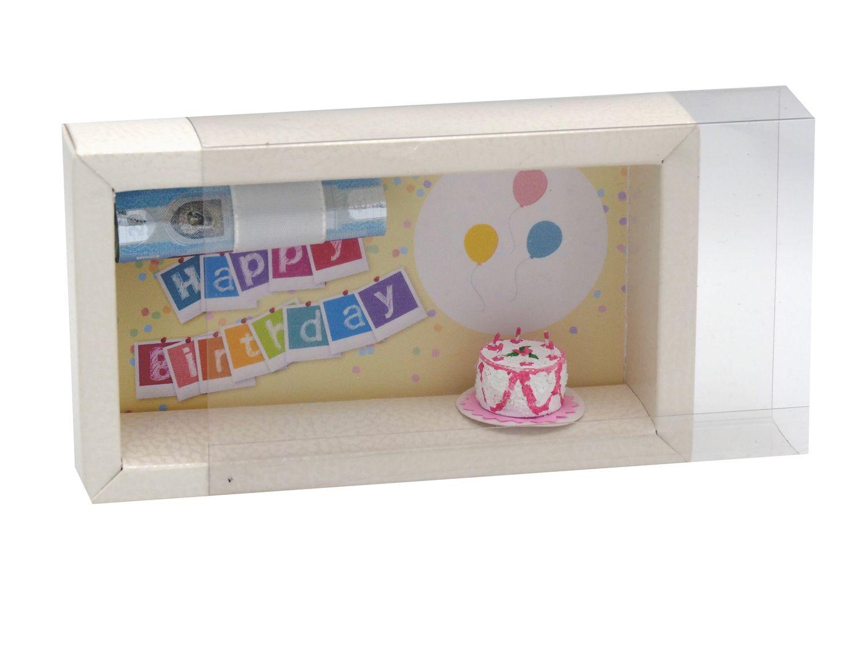 Geldgeschenk Verpackung Geldverpackung Gutschein Happy Birthday Geburtstag Geschenkidee