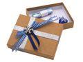 Geldgeschenk Verpackung Weihnachten Schneeflocke Blau 001