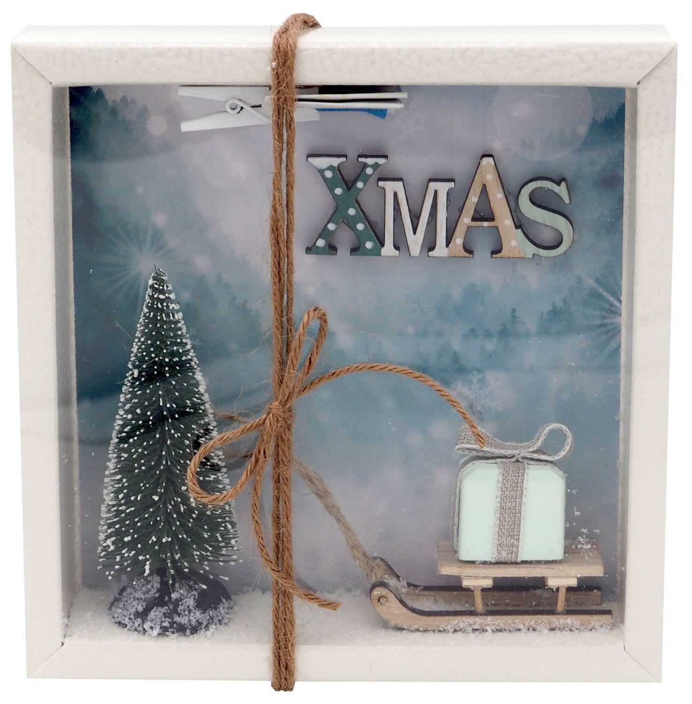 Geldgeschenk Verpackung Weihnachten Gutschein Schlitten XMAS Geschenk Mint