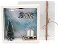Geldgeschenk Verpackung Weihnachten Gutschein Schlitten XMAS Geschenk Mint 2