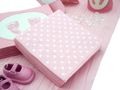 Tischdeko Taufe Rosa Weiß Geburt Mädchen Baby SET 20 Personen  2