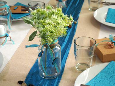 Tischdeko Kommunion Konfirmation Petrol Taupe Fisch Gastgeschenk Set