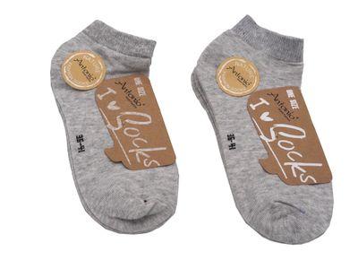6 Paar Sneaker Füßlinge Socken Grau