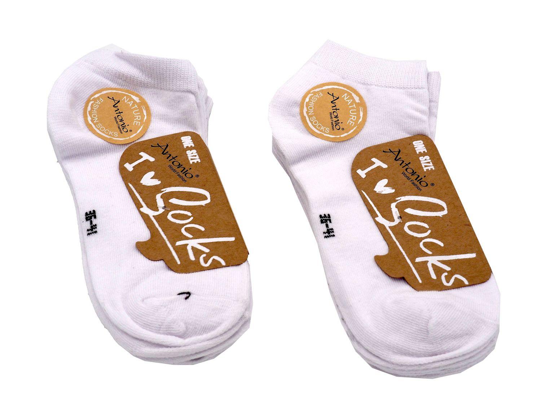 6 Paar Weiß Kurzsocken Sneakersocken Sneakersöckchen Halb-Socken Herren Damen Männer Frauen Jungen Mädchen