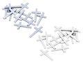 Streudeko Tischdeko Kreuz Kommunion Konfirmation 16 Stück Holz Silber Weiß 1