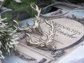Kerzenpiekser Hirsch Geweih Pin Kerze Deko Silber Advent Weihnachten Basteln 2