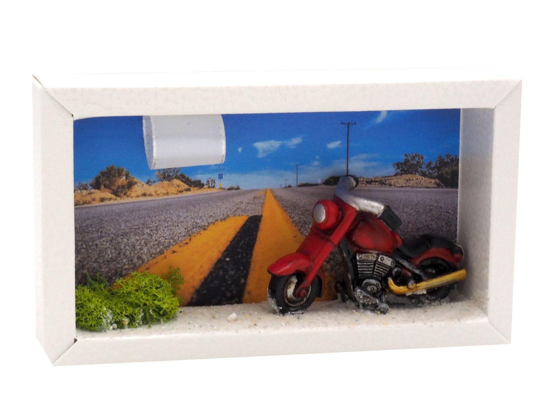 Geldgeschenk Verpackung Geldverpackung Motorrad Route 66 Highway