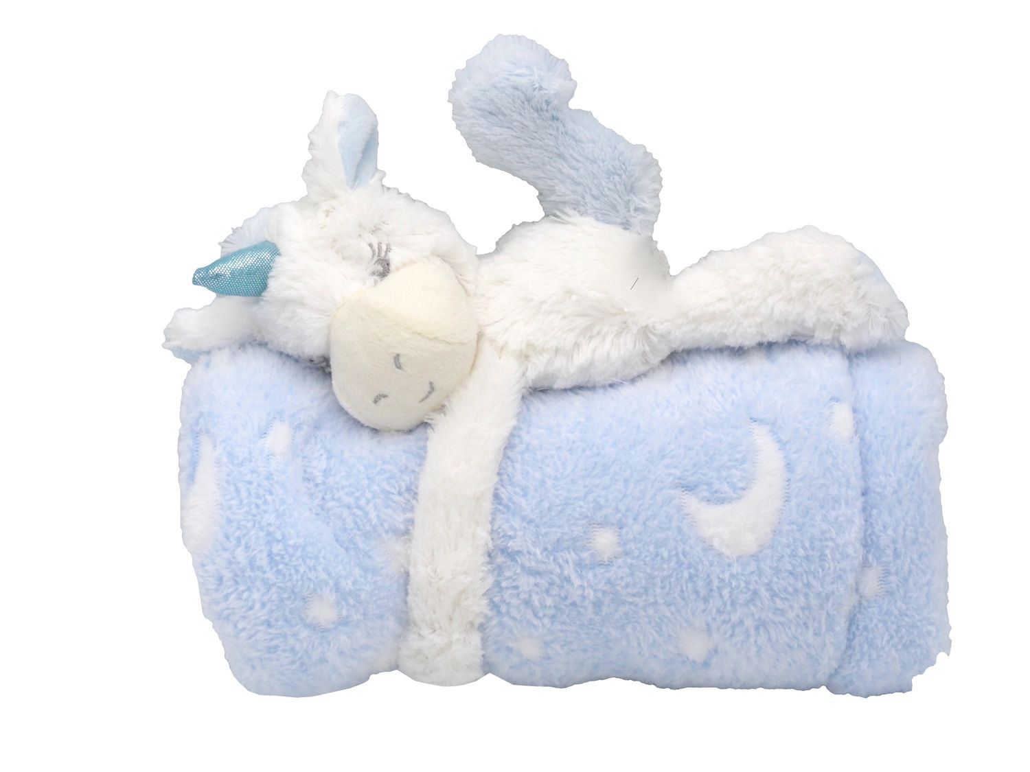 baby kuscheldecke schmusedecke mit einhorn kinder. Black Bedroom Furniture Sets. Home Design Ideas