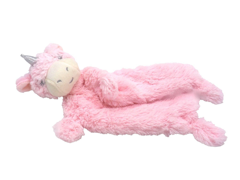 Schnuffeltuch Schmusetuch Kuscheltuch Trösterchen Stofftier Einhorn Baby Geburt Taufe Rosa