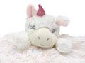Schnuffeltuch Schmusetuch Kuscheltuch Trösterchen Stofftier Einhorn Baby Rund Geburt Taufe Weiß Rosa 3