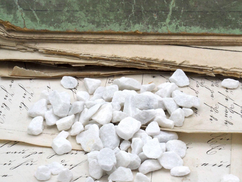 500g Streudeko Steine Gekalkt Weiß Tischdeko Kommunion Konfirmation Hochzeit Granulat