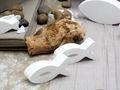 Tischdeko Kommunion Konfirmation Taupe Braun Weiß Fisch SET 20 Personen 7