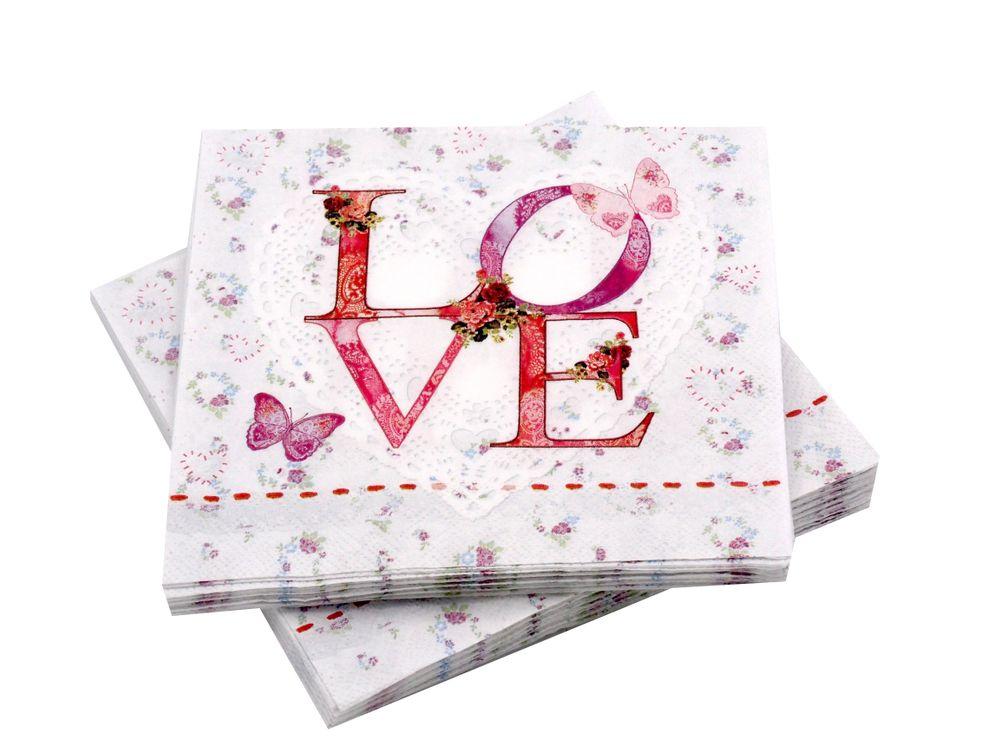 servietten hochzeit love vintage hochzeit tischdeko servietten serviettentaschen. Black Bedroom Furniture Sets. Home Design Ideas