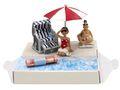 Geldgeschenk Verpackung Geldverpackung Nordsee Ostsee Sonnenschirm Strandkorb Urlaub Reise  2