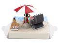 Geldgeschenk Verpackung Geldverpackung Nordsee Ostsee Sonnenschirm Strandkorb Urlaub Reise  3