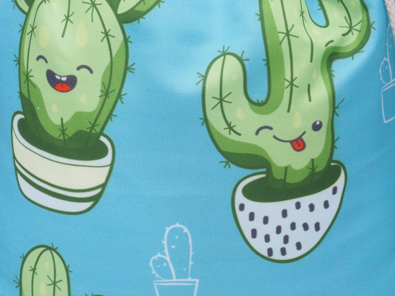 Turnbeutel Gymbeutel Rucksack Kinder Kaktus Bunt Beutel Tasche Sport Reise