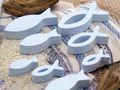 Fische Deko Figur Blau Hellblau Tischaufsteller Aufsteller Tischdeko Kommunion Konfirmation 8 Stück 3