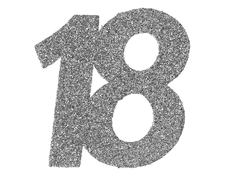 6 Stück Streudeko Geburtstag Tischdeko Zahlen Silber Glitzer Jubiläum Partydeko