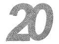 6 Stück Streudeko Geburtstag Tischdeko Zahlen Silber Glitzer Jubiläum Partydeko 3