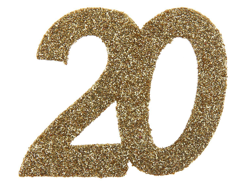 6 Stück Streudeko Geburtstag Tischdeko Zahlen Gold Glitzer Jubiläum Partydeko