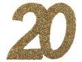 6 Stück Streudeko Geburtstag Tischdeko Zahlen Gold Glitzer Jubiläum Partydeko 3