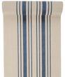 3m Tischläufer Tischband Leinen Baumwolle Streifen Blau Beige Maritim Sommer Garten 1