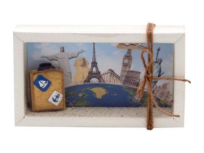 Geldgeschenk Verpackung Reise Weltreise Klein