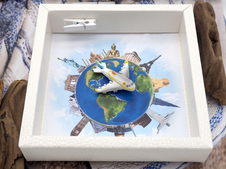 Geldgeschenk Verpackung Reise Urlaub Weltreise Flugzeug Geldverpackung Gutschein Around The World