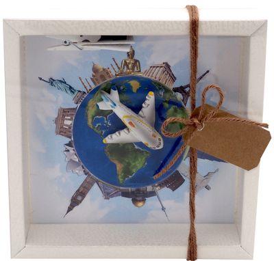 Geldgeschenk Verpackung Reise Weltreise Around The World