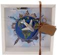 Geldgeschenk Verpackung Reise Urlaub Weltreise Flugzeug Geldverpackung Gutschein Around The World 1