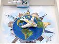 Geldgeschenk Verpackung Reise Urlaub Weltreise Flugzeug Geldverpackung Gutschein Around The World 5