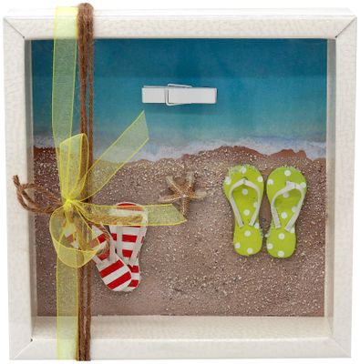 Geldgeschenk Verpackung Reise Urlaub Badesandalen Zehentrenner Strand Meer