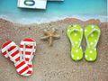 Geldgeschenk Verpackung Reise Urlaub Badesandalen Zehentrenner Strand Meer Strandurlaub Geburtstag 4