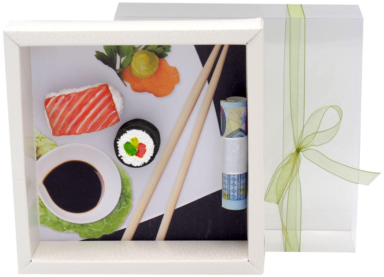 Geldgeschenk Verpackung Sushi Restaurant Essen Geburtstag Weihnachten