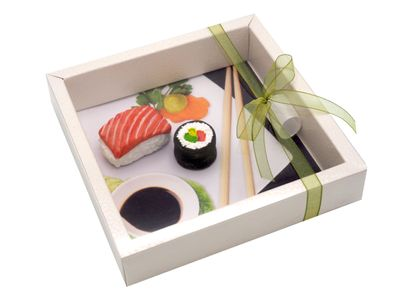 Geldgeschenk Verpackung Sushi Restaurant