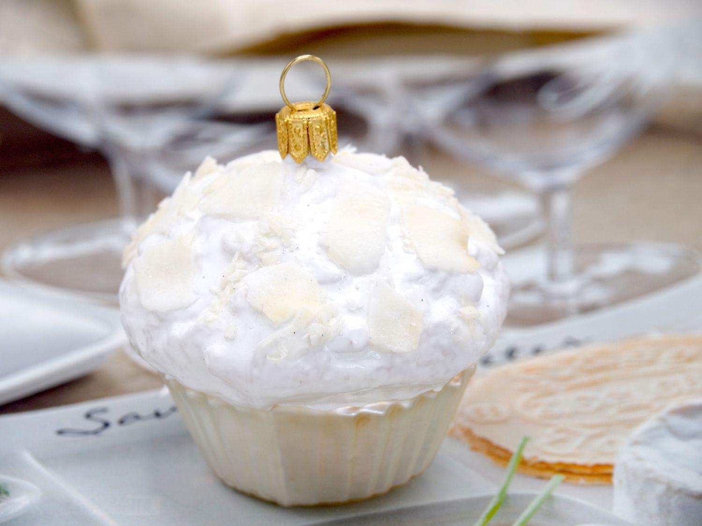 2x Muffins Cup Cakes Glas Christbaumanhänger Weihnachten Baumanhänger Weihnachtskugel Deko Bäckerei