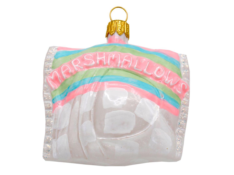 Marshmallows Glas Christbaumschmuck Weihnachtsbaumschmuck Christbaumanhänger Weihnachten Deko