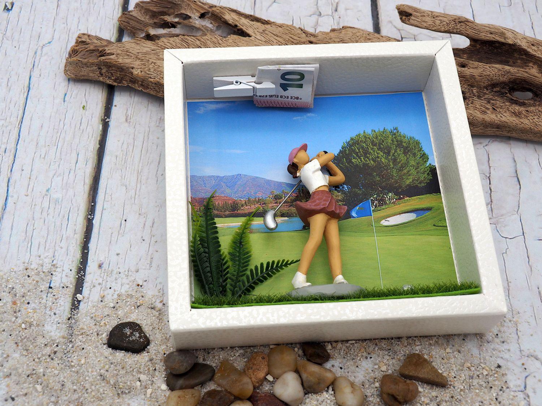 Geldgeschenk Verpackung Golf Frau Gutschein Golfzubehör Hobby Geschenkidee Geburtstag Weihnachten