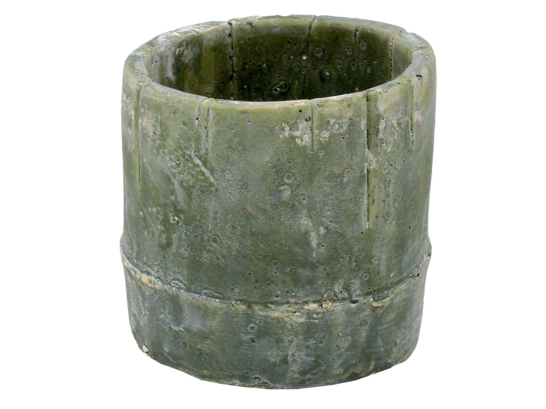 Bertopf blumentopf bambus gr n beton home garten terrasse for Blumentopf beton