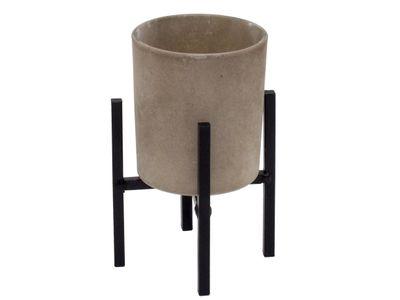 Teelichthalter auf Metallständer Braun Schwarz Kerzendeko