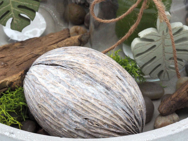tablett deko bl tter vase windlicht kerzenglas beton. Black Bedroom Furniture Sets. Home Design Ideas