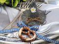 10x Filzhut Oktoberfest Grau Hut Bayrisch Tischdeko Party Streudeko 4