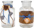 2 Vasen Oktoberfest Bayrisch Blau Tischdeko Deko 001