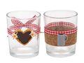 Teelichtglas Oktoberfest Bayrisch Rot Tischdeko Deko Party Partydeko 2 Stück 1