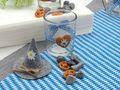 2x Teelichtglas Oktoberfest Bayrisch Blau Tischdeko Deko Party Partydeko 3