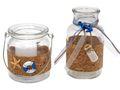 Windlicht + Vase Glas Maritim Blau Blumenvase Tischdeko Kerzenglas Sommer Meer 1